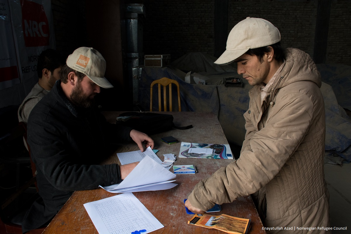 Internally displaced households from Tebar village, in Afghanistan were given cash and NFI kits by Norwegian Refugee Council (NRC) with support from Start Fund as part of Alert 199, displacement in Afghanistan.