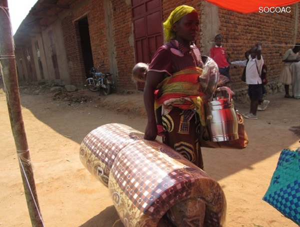 Marta, who was displaced with her 5 children, has received help from the Start-funded project. Photo credit: SOCOAC